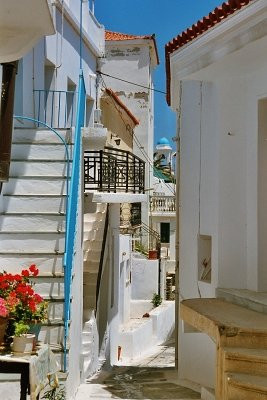 Gasse in Andros-Chora