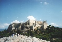 Blick vom Areopag zur Akropolis