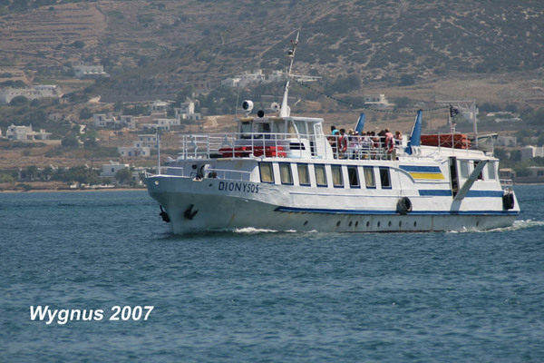 Antiparos Touristenboot